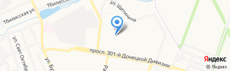 Тройка на карте Донецка