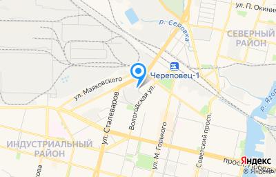 Местоположение на карте пункта техосмотра по адресу Вологодская обл, г Череповец, ул Добролюбова, д 1
