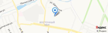 Пушинка на карте Донецка