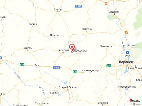деревня Успено-Раевка на карте