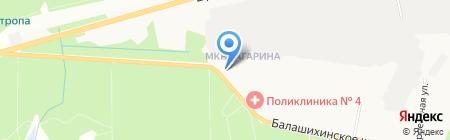 Детский сад №44 Земляничка на карте Балашихи