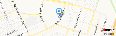 Колибри на карте Донецка