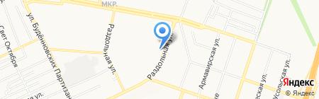 Раздолье на карте Донецка