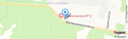 Книжный магазин на карте Балашихи