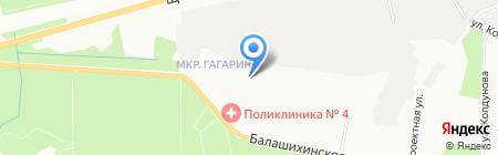 Средняя общеобразовательная школа №24 на карте Балашихи