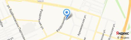 Попутчик на карте Донецка