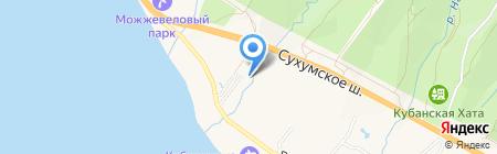 Кастальская купель на карте Геленджика