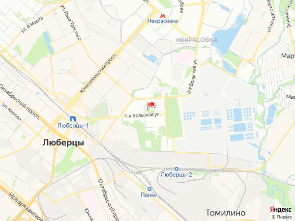 Карта посёлок Некрасовка