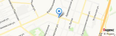 Сезон отпуска на карте Донецка