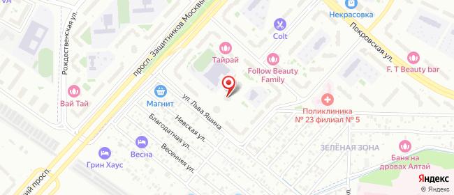Карта расположения пункта доставки Москва Льва Яшина в городе Москва