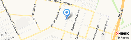 Анастасия на карте Донецка