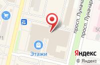 Схема проезда до компании Альфа-Строй в Череповце