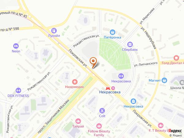 Остановка «Метро Некрасовка», Покровская улица (1008792) (Москва)