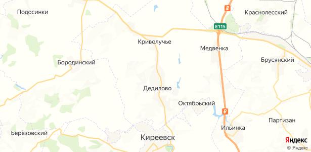 Дедилово на карте
