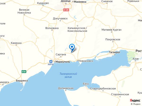 село Крещатицкое на карте