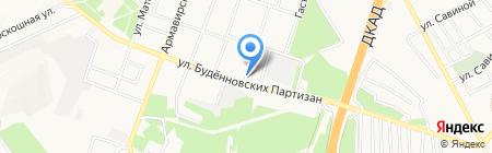 Магистраль на карте Донецка