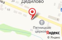 Схема проезда до компании Почтовое отделение в Дедилово