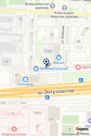 АВТОМОБИЛЬНЫЙ БИЗНЕС ЦЕНТР на карте Балашихи