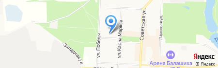 Средняя общеобразовательная школа №6 на карте Балашихи