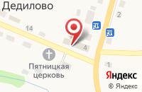 Схема проезда до компании Среднерусский банк Сбербанка России в Дедилово