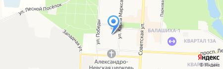 Детский сад №15 Золотой петушок на карте Балашихи