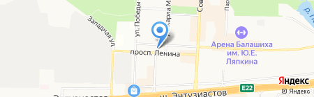 Храм Александра Невского в Балашихе на карте Балашихи