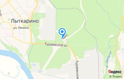 Местоположение на карте пункта техосмотра по адресу Московская обл, г Лыткарино, тер промзона Тураево