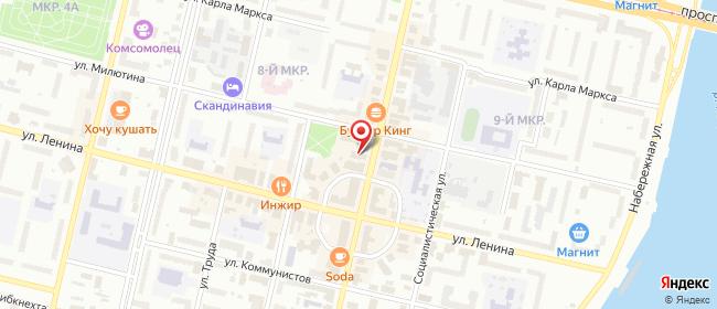 Карта расположения пункта доставки Пункт выдачи в городе Череповец