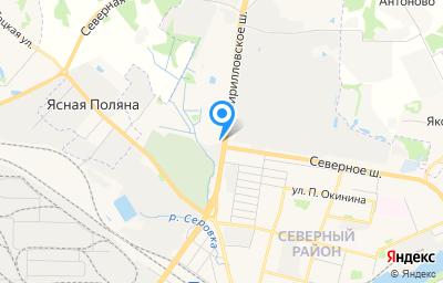 Местоположение на карте пункта техосмотра по адресу Вологодская обл, г Череповец, ш Кирилловское, д 49