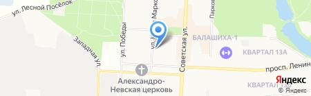 Банк Русский Стандарт на карте Балашихи