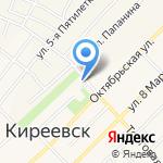 Автомойка на карте Киреевска