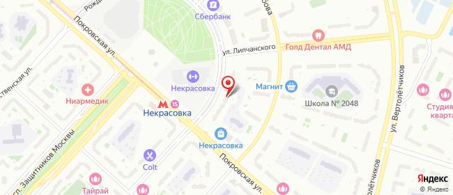 Карта расположения пункта доставки Москва Рождественская в городе Москва