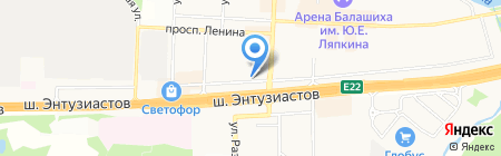 Авеню Стиль на карте Балашихи