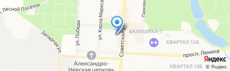Главное Управление Пенсионного фонда РФ №7 г. Москвы и Московской области на карте Балашихи