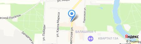 Промсвязьбанк на карте Балашихи