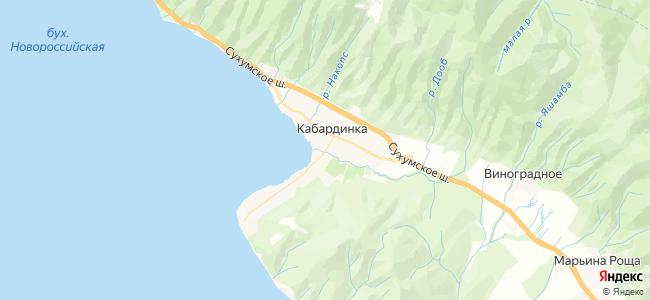 Кабардинка - объекты на карте