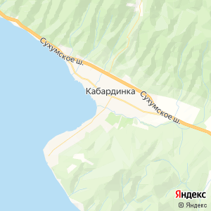 Карта города Кабардинки