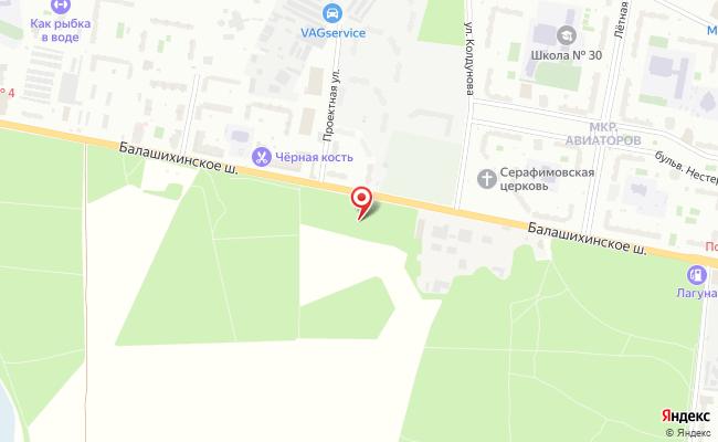 Карта расположения пункта доставки Пункт выдачи в городе Балашиха
