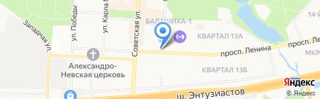 Линда на карте Балашихи