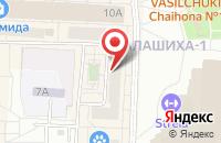 Схема проезда до компании Центр Специальной Подготовки Кадров в Балашихе