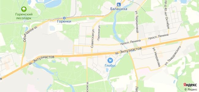 Балашиха - объекты на карте