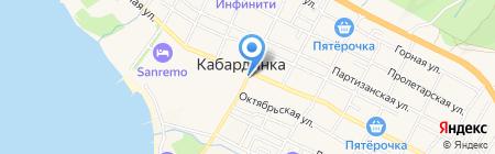 Янтарь на карте Геленджика