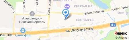 ВЛД на карте Балашихи