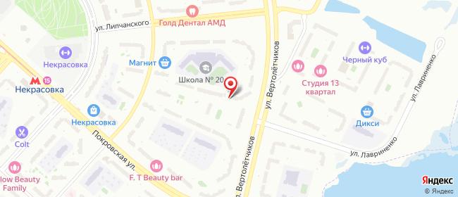 Карта расположения пункта доставки Пункт выдачи в городе Люберцы