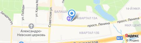 Московское областное БТИ на карте Балашихи