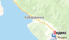 Гостиницы города Кабардинка на карте