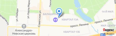 Todes на карте Балашихи