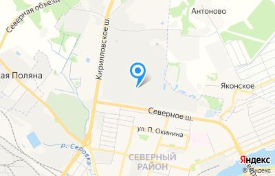 Местоположение на карте пункта техосмотра по адресу Вологодская обл, г Череповец, ш Северное, д 10