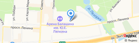 Расфлор на карте Балашихи