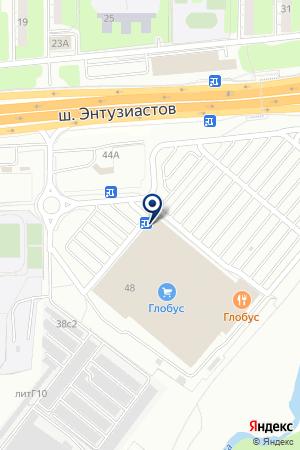 АЗС АПОГЕЙ на карте Балашихи